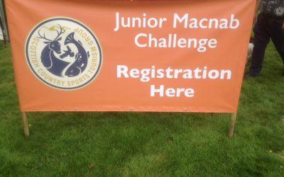 'Junior Macnab' Challenge at the Highland Fieldsports Fair, Moy