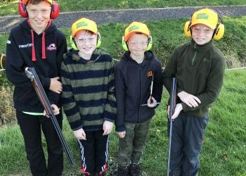Kids have a ball at the half-term activity day at The Roxburghe Shooting School of Excellence